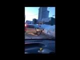 УАЗ Хантер и хэтчбек Toyota Allex столкнулись на Пролетарской