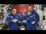Космонавты с борта МКС поздравили россиян с Днем Победы
