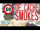 CS:GO - De_Cache ALL SMOKES (50 smokes videobook)