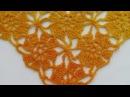 Шаль или бактус безотрывными цветочными мотивами crochet shawl unseparated motives Шаль 20