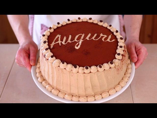 TORTA DI COMPLEANNO AL CAFFE Ricetta Facile - Coffee Flavored Birthday Cake Easy Recipe