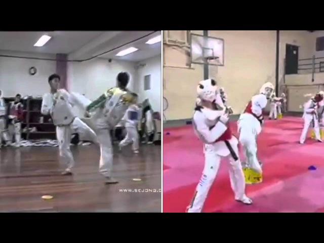 Old vs Modern - Taekwondo sparring training drills
