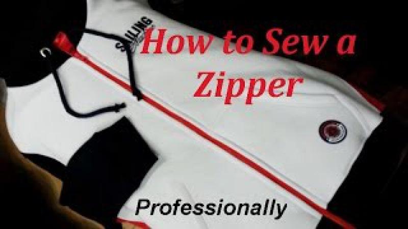 ✂ How to Sew a Zipper. Sweatshirt. Sewing Course. ✂ Jak wszyć zamek błyskawiczny /ekspres do bluzy