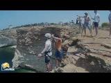Мыс Фиолент прыжки с веревкой в Крыму с командой Скайлайн