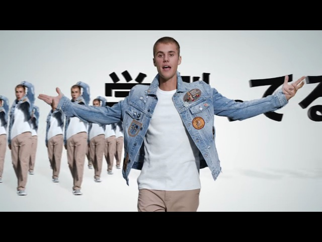Justin Bieber his clone army dancing to What Do You Mean in commercial for SoftBank