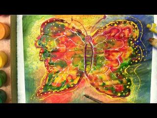 Как нарисовать бабочку. Уроки рисования детям.