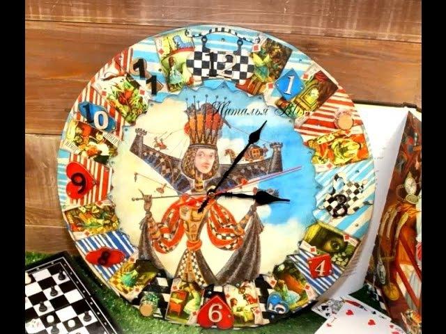 Наталья Bliss Делаем интересные и яркие часы Алиса в Стране Чудес