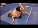 Zack vs his girlfriend Michelle Very Hot Mixed Wrestling Real Hard! (begin)