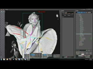Spine 2d animation tutorial - Marilyn Monroe_Part07 _ Edit the mesh