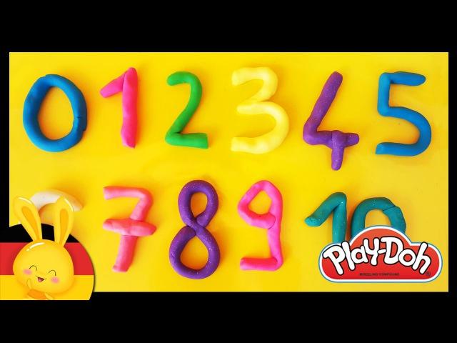 Zahlen lernen für Kinder Deutsch Play Doh Learn numbers in german Titounis