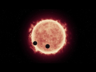 Animation of Two Earth-Sized Worlds Transiting Red Dwarf Star