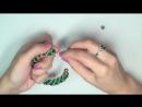 Tutorial׃ beads style №3 for pandora bracelet ⁄ Спиральный жгут из бисера и стекляруса