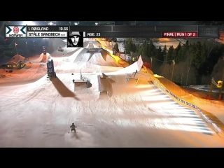 Stale Sandbech wins Mens Snowboard Slopestyle silver - X Games Norway 2017