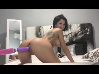 Anisyia livejasmin ∞ perfect body tatoo brunette fucked hard sexmachine web model solo красивая брюнетка соло сексмашина киска