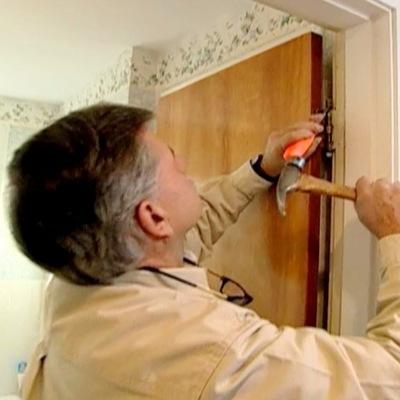 Ремон деревянной межкомнатных двери от дырки люблино