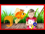 ХЕЛЛО КИТТИ и Алена на рыбалке  Герои Диснея в Цирке для Hello Kitty Disney Heroes мультик для детей
