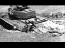 Soviet Army Lend-lease M-4 tank pulls Soviet tank out of mud hole in Liezen, Stock Footage