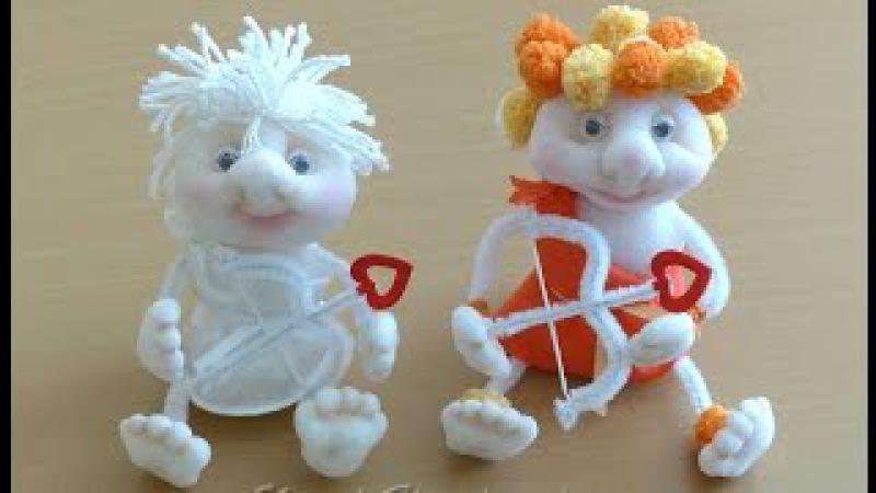 Купидоны, куклы из колготок. Doll of tights, stockings, Cupids .