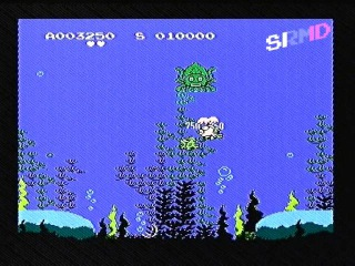 Fishwar (Balloon Fight hack) - Famiclone Gameplay [Bootleg Famicom Games]