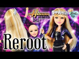 Rerooting Disney VIP Hannah Montana Doll Restyle - Doll Hair Reroot