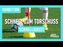 Fussballtraining Schnell zum Torschuss Schnelligkeit Kondition