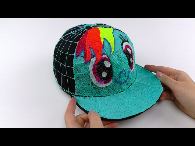 My Little Pony How to Draw Rainbow Dash Cap in real size using 3D Pen