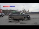В Уфе водитель сбил столб со знаком пешеходного перехода Дорожный патруль
