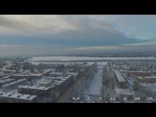 Шлиссельбург с квадрокоптера зима. Дальний полёт
