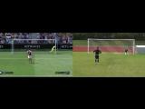 Футболисты повторили в реальной жизни баги игры FIFA 17