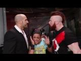 Bayley, Cesaro &amp Sheamus vs. Charlotte, Luke Gallows &amp Karl Anderson WWE RAW (30.01.2017)