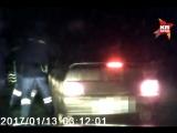 Пьяный ставрополец притворился спящим, а потом протаранил патрульное авто