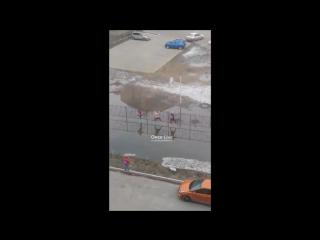 Омские дети идут в школу