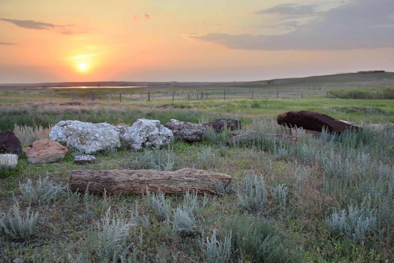 Геологическая аллея на территории комплекса