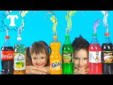 BAD BABY взорвали Колу Фанту сделали цветные фонтаны Kids made messy FREAKY MOMMY CRUSHES