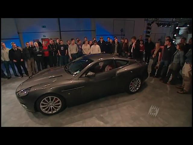 TopGear Aston Martin V12 Vanquish vs Ferrari 575M Maranello Топгир на русском