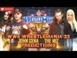 WWE Wrestlemania 33 John Cena &amp Nikki Bella vs. The Miz &amp Maryse Predictions