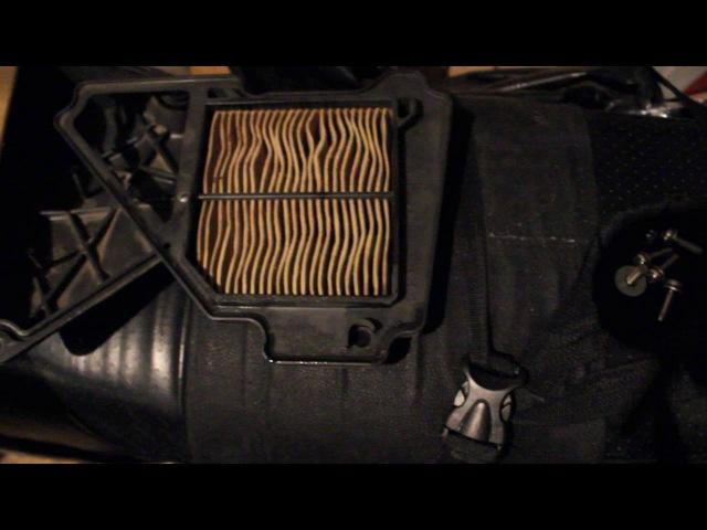 Обслуживание воздущного фильтра мотоцикла
