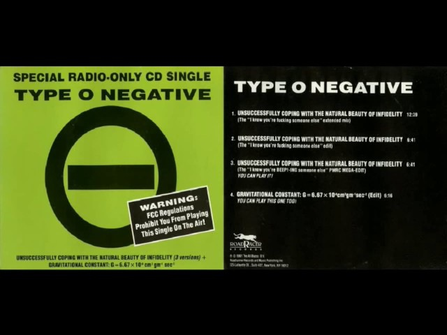 Type O Negative - Unsuccessfully Coping With the Natural Beauty of Infidelity Promo [Full Album]