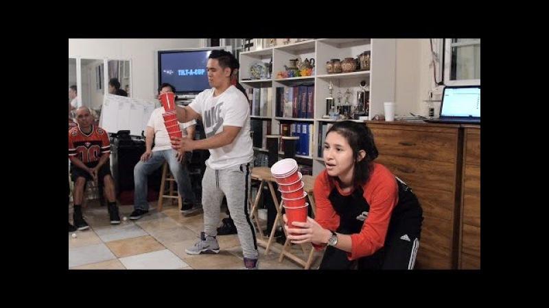 Minute to Win It: Tilt-A-Cup (DABers! vs. Joyful Jacks!)