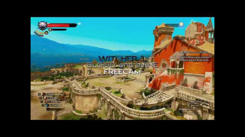 WITCHER 3 Blood and Wine FREECAM SKY VIEW GAMING SPOILERS