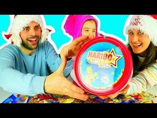 ✪ Харибо Челлендж 24 пакета жилеек от Розочки Видео для детейHaribo Challeng