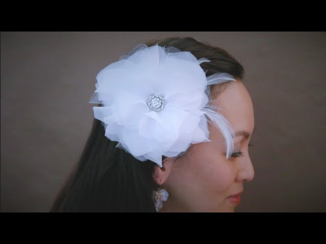 How to make a Fabric Flower Fascinator (New Version) - {CAMRYN}