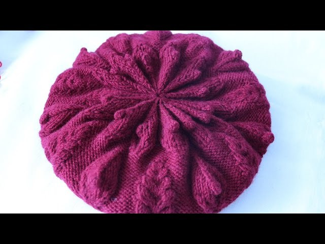 Вязание спицами красивой макушки