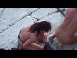 Жена трахается на пляже с мужем, инцест, 18+, русское порно, секс