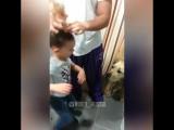 Как папа делает прическу