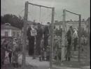 Приговор народа Публичная казнь фашистов на городской площади в Краснодаре , 18 июля 1943 г Кинохроника
