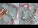 DIY handmade hair vine Bridal Hair Headpiece /Повязка на голову из жемчуга и хрусталя