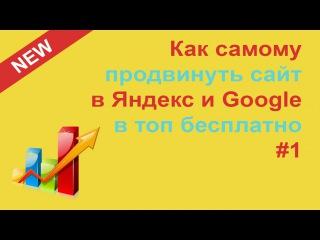Как Самостоятельно Бесплатно Продвинуть Сайт в Поисковиках Яндекс и Google в ТОП. Р...