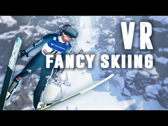 Лыжи Fancy Skiing VR: Ski down a slope and avoid obstacles in virtual reality with the HTC Vive
