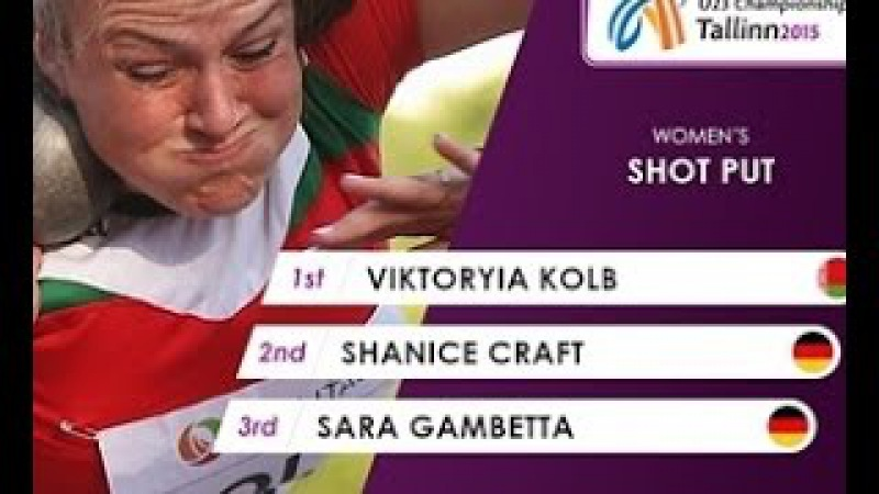 Виктория Колб победительница молодежного ЧЕ в толкании ядра